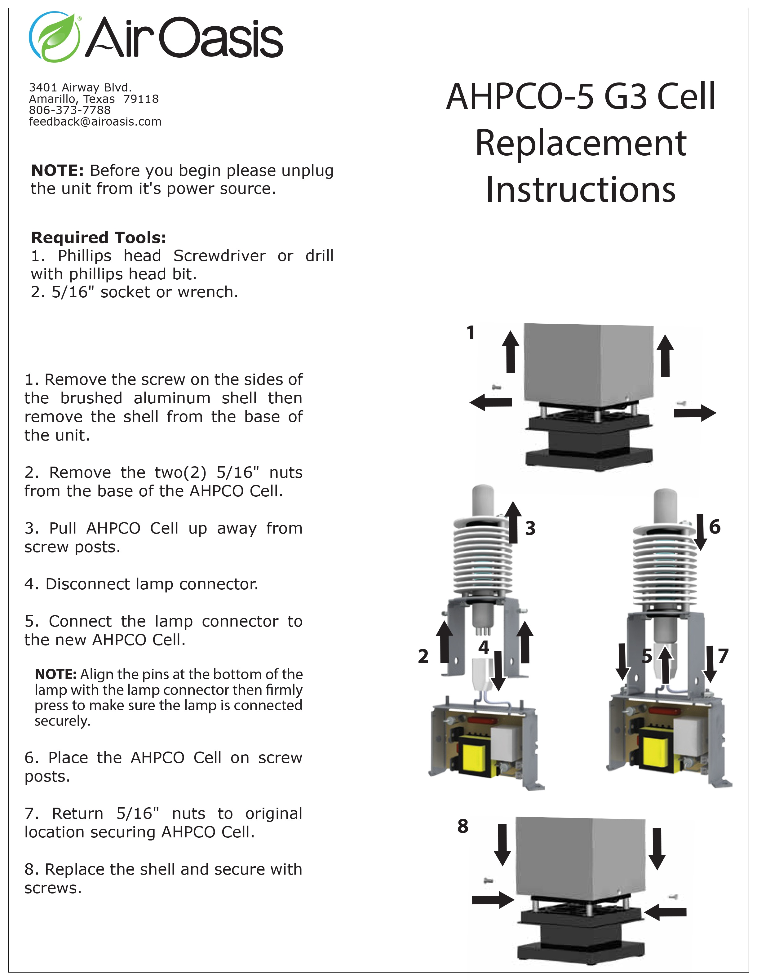 AHPCO-5 G3 Replacement Instructions