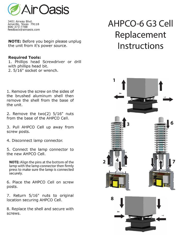 AHPCO-6 G3 Replacement Instructions
